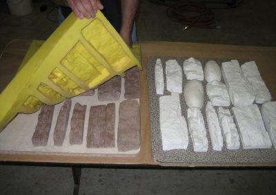 yapay taş formları kalıbı, RTV, RTV 2, Taş kalıp, beton kalıp, silikon, kalıp